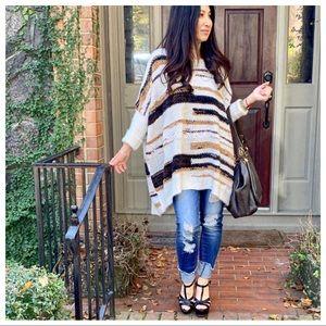 ✨PARIS✨Boho chic oversized knit sweater